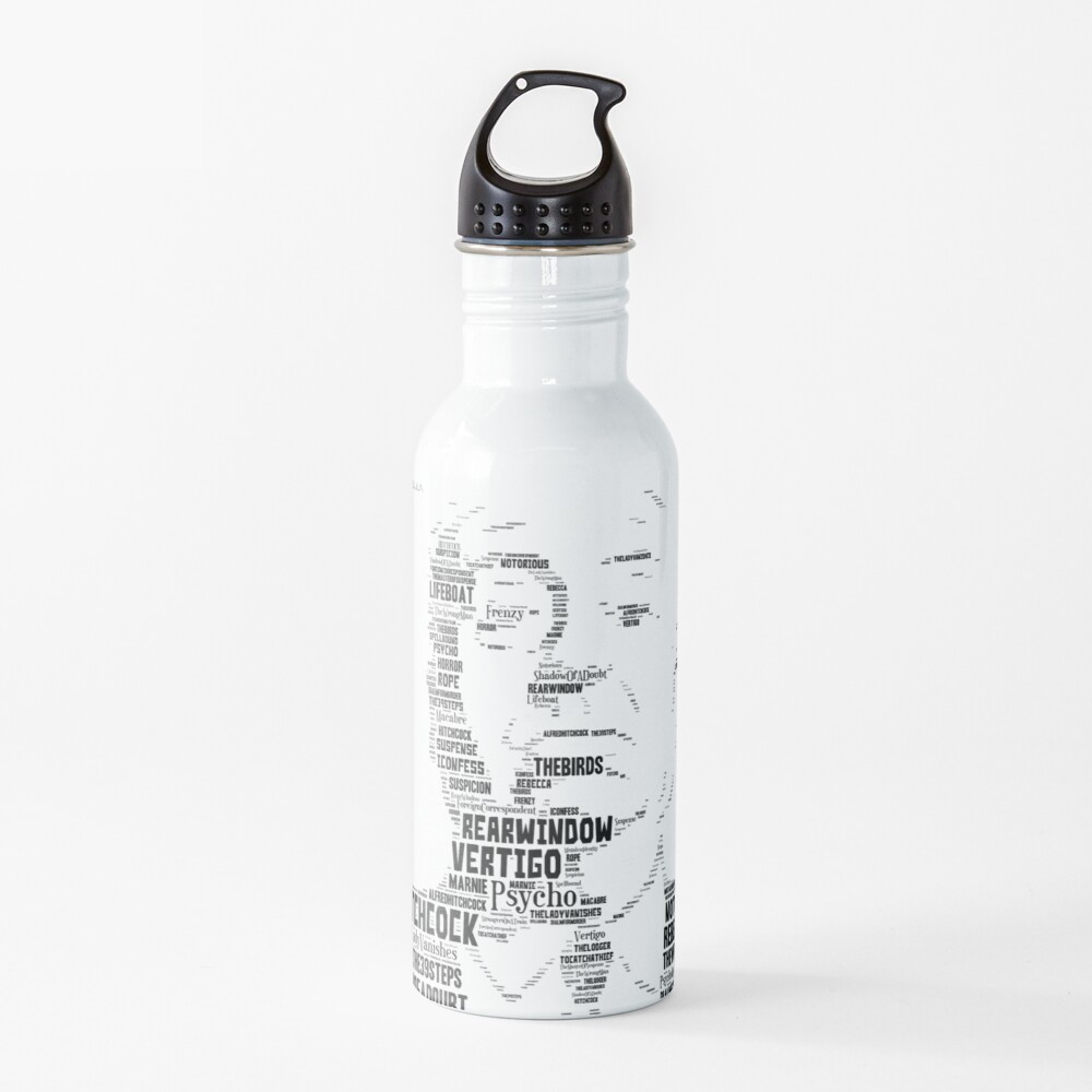 Alfred Hitchcock - In words Water Bottle