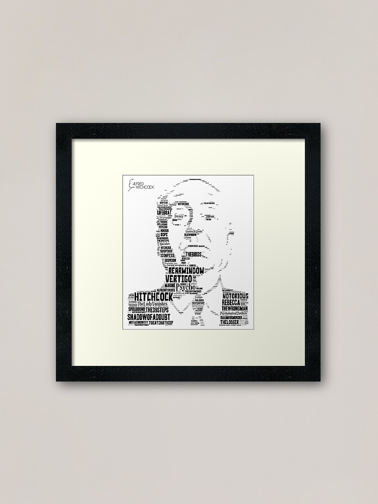 Alternate view of Alfred Hitchcock - In words Framed Art Print