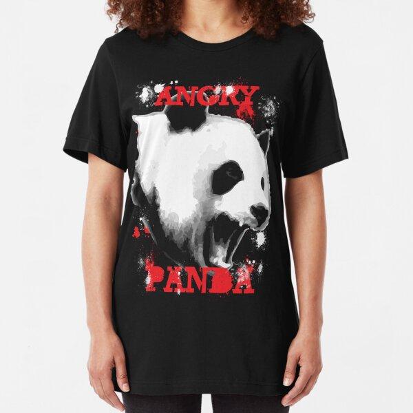 Angry Panda Slim Fit T-Shirt