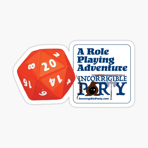 A Role Playing Adventure Sticker