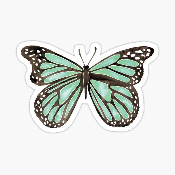 Mint Butterfly Sticker