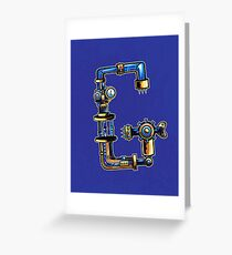 G is for Gear Head Greeting Card