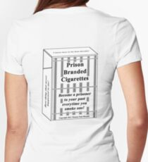 Prison Branded Cigarettes Womens Fitted T-Shirt