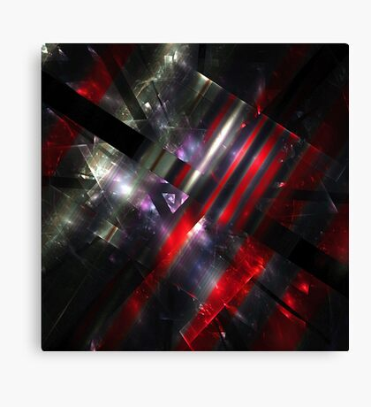 Red Fractures Canvas Print