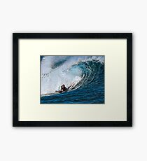 Surfing Action Framed Print