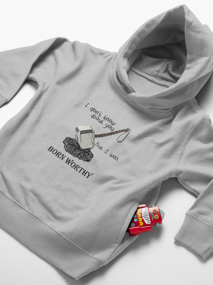 Alternate view of Born worthy Toddler Pullover Hoodie