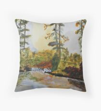Back Forty Pond Throw Pillow