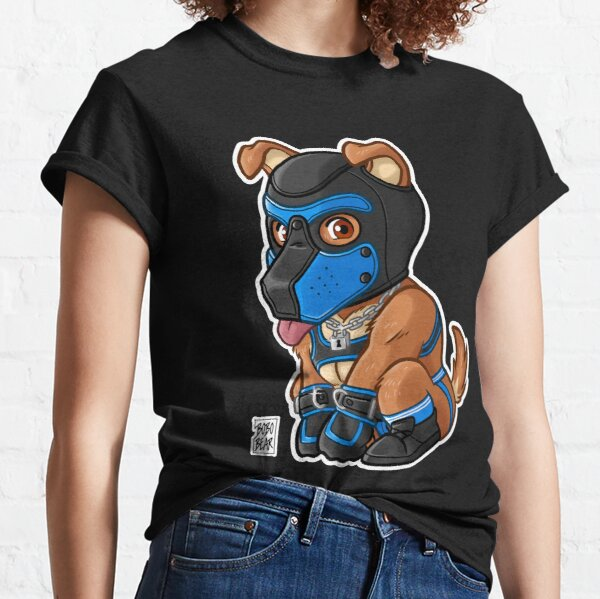 PLAYFUL PUPPY - BLUE MASK - BEARZOO SERIES Classic T-Shirt