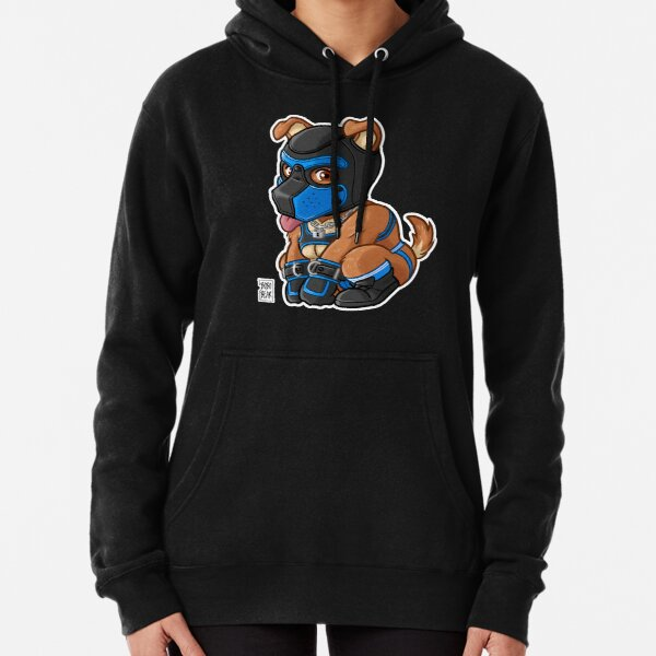 PLAYFUL PUPPY - BLUE MASK - BEARZOO SERIES Pullover Hoodie