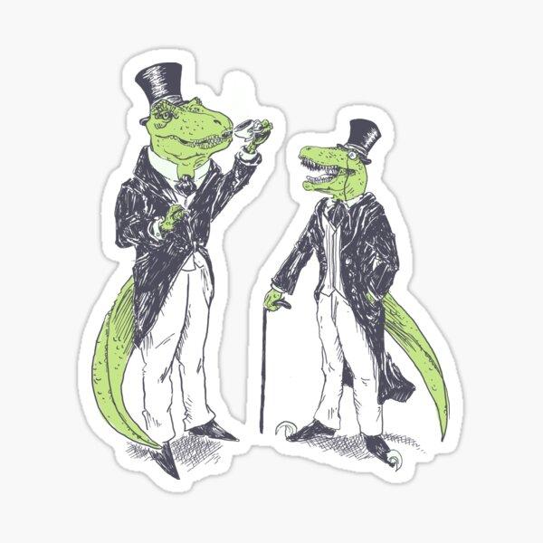 Tea Rex and Velo Sir Raptor Sticker