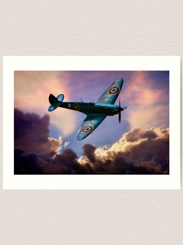 02 Vintage Poster Aircraft Spitfire