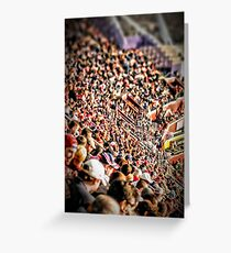 Football Fans Greeting Card