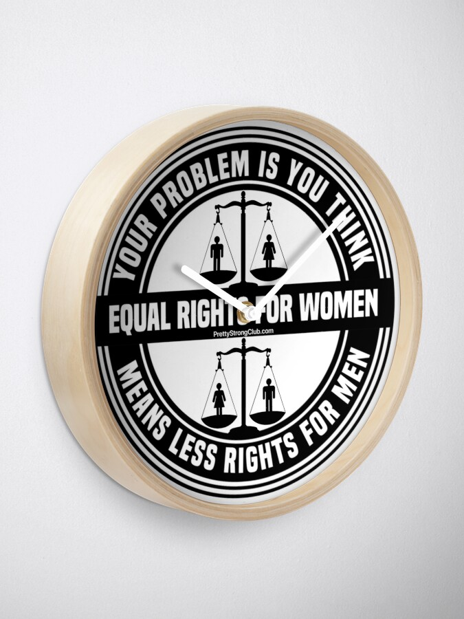 Alternate view of Equal Rights For Women Clock