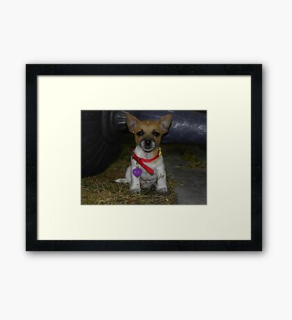 My name is? Framed Print