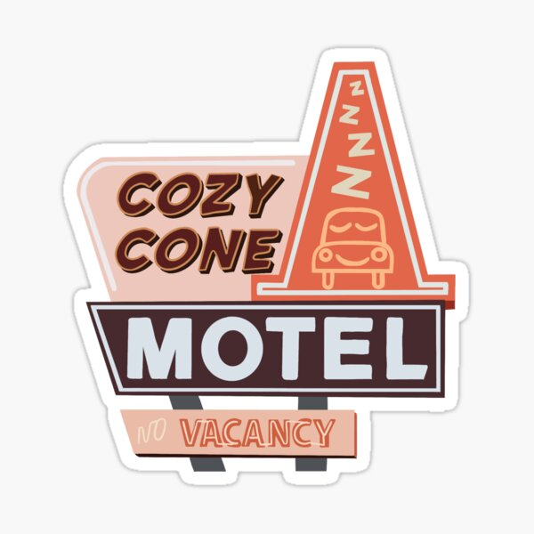 Cozy Cone Motel Sticker