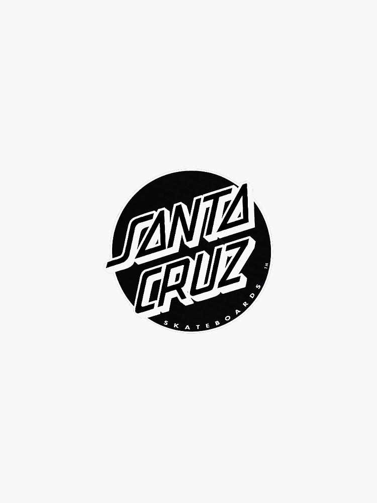 black and white santa cruz by stickers-for-u-