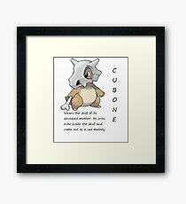 Pokedex cubone Framed Print