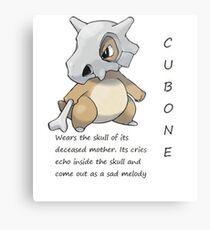 Pokedex cubone Metal Print
