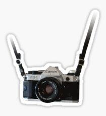 Amazing Hanging Canon Camera - AE1 Program! Sticker