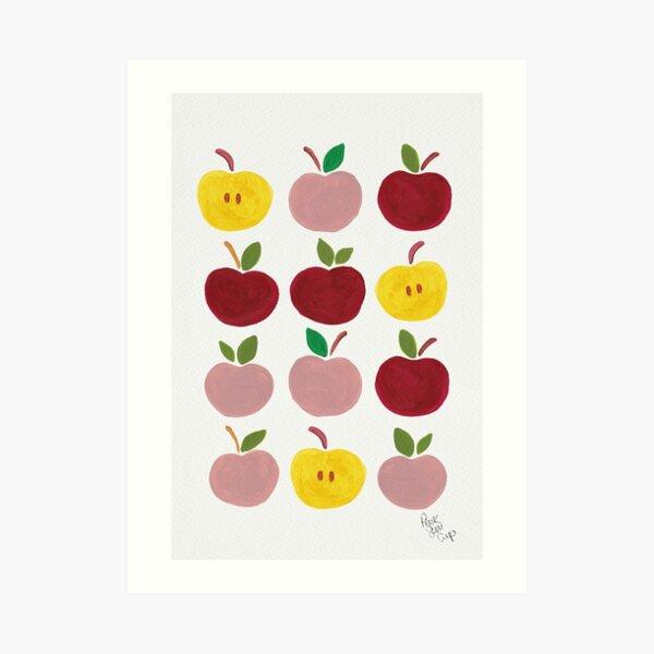 Apples Gouache Illustration Art Print