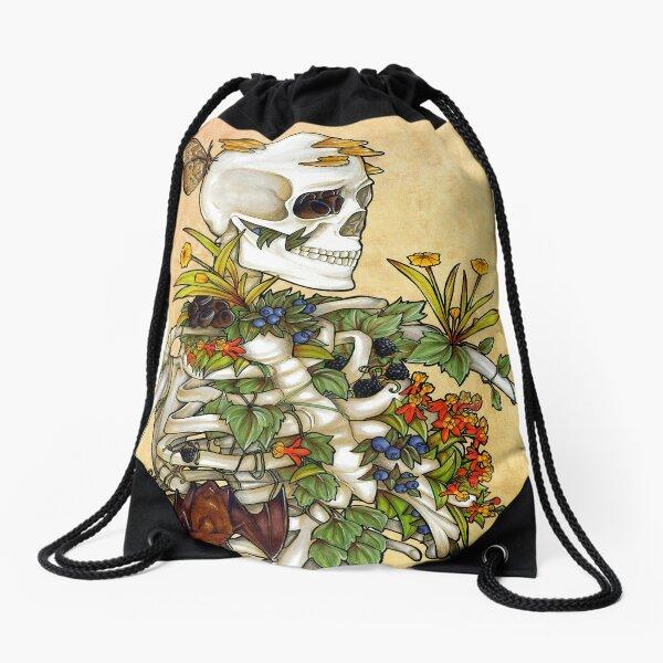 Bones and Botany Drawstring Bag