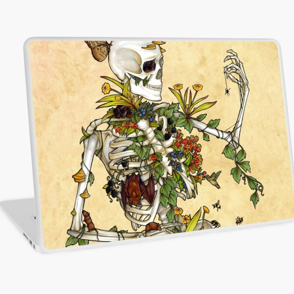 Bones and Botany Laptop Skin
