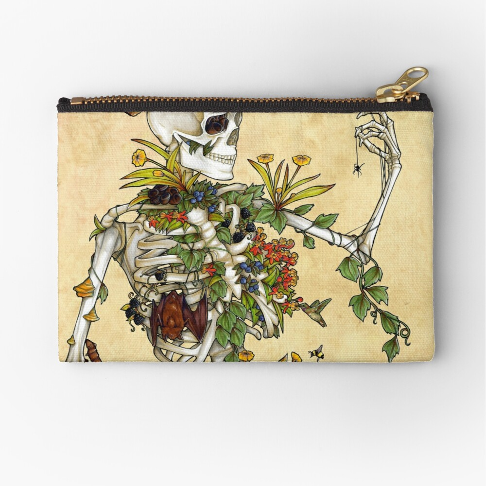 Bones and Botany Zipper Pouch