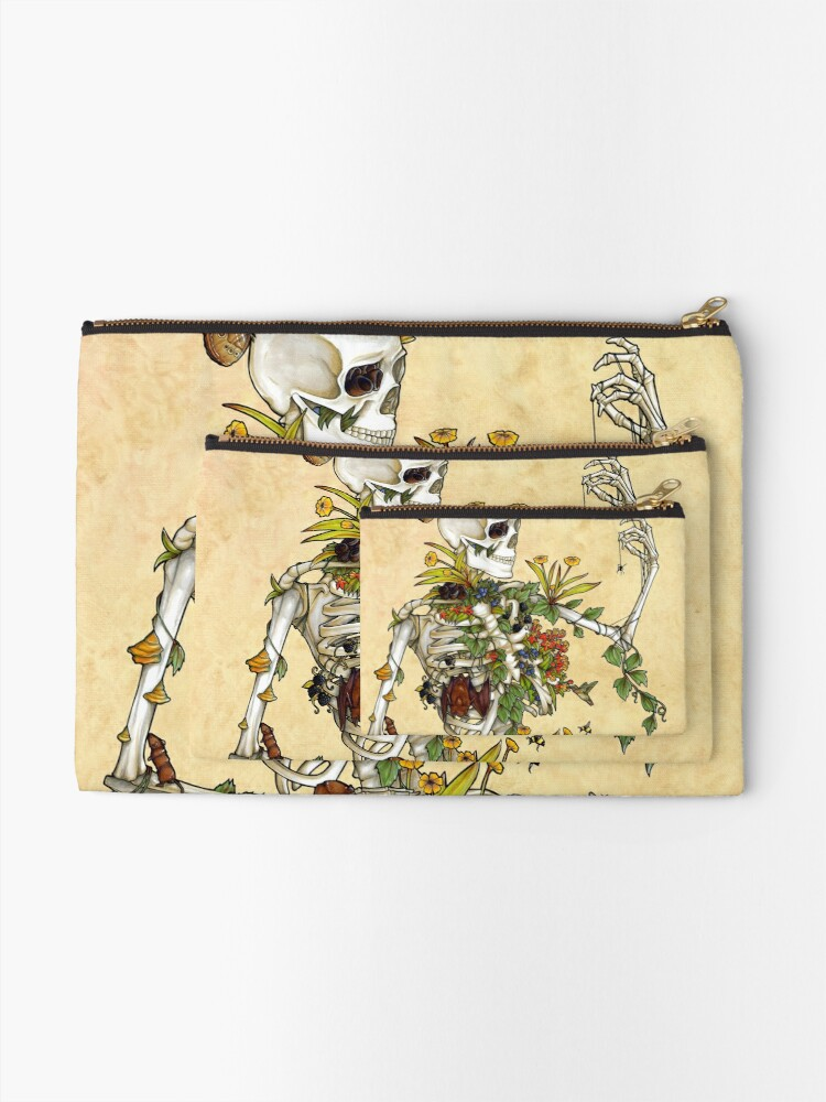Alternate view of Bones and Botany Zipper Pouch