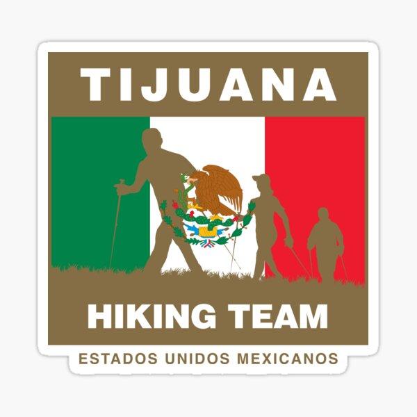 Tijuana  BC   Mexico    Vintage Style  Travel Decal Sticker luggage label