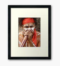 Busking Framed Print