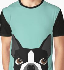 Logan - Boston Terrier pet design with bold and modern colors for pet lovers Graphic T-Shirt