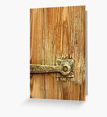 The Door Catch Greeting Card