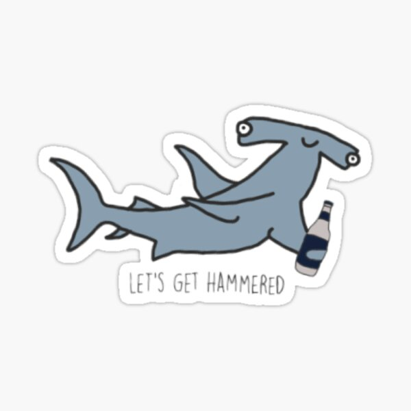 hammer head shark sticker Sticker