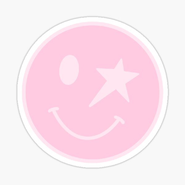 Star smiley face Sticker