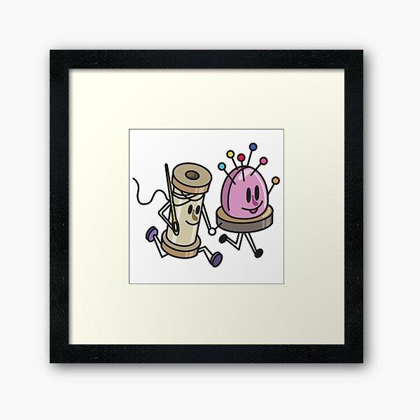 Spool And Pin Cushion Framed Art Print