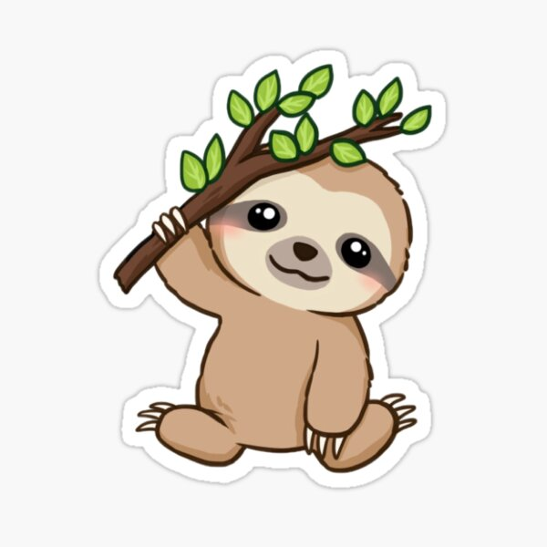 Baby Hanging Sloth Sticker