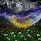 Sheep in the Meadow by George Hunter