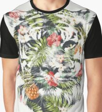 Tropical Tiger Graphic T-Shirt