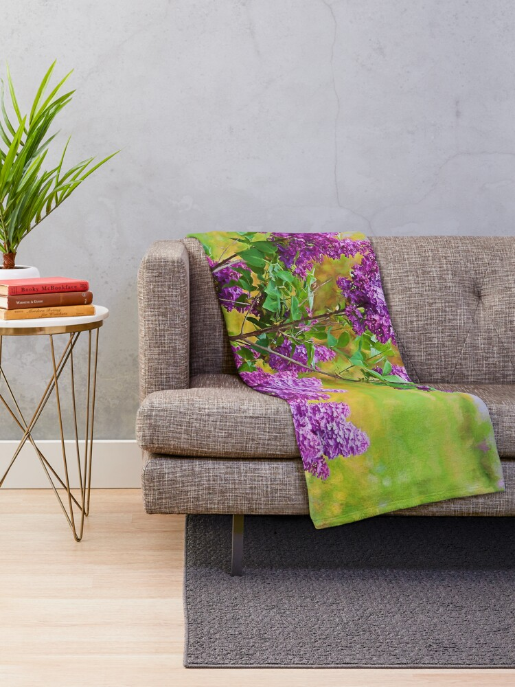 Alternate view of Spring is in the air Throw Blanket