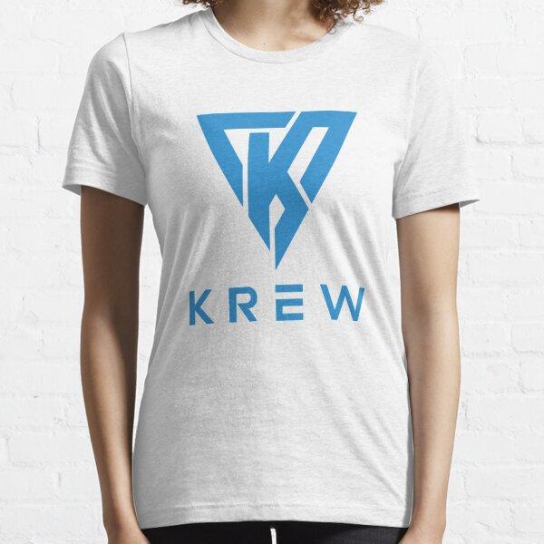 Krew Logo Blue Essential T-Shirt