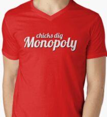 chicks dig monopoly Mens V-Neck T-Shirt