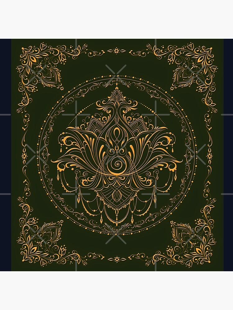 Lotus Goddess in Deep Green by dreamie09