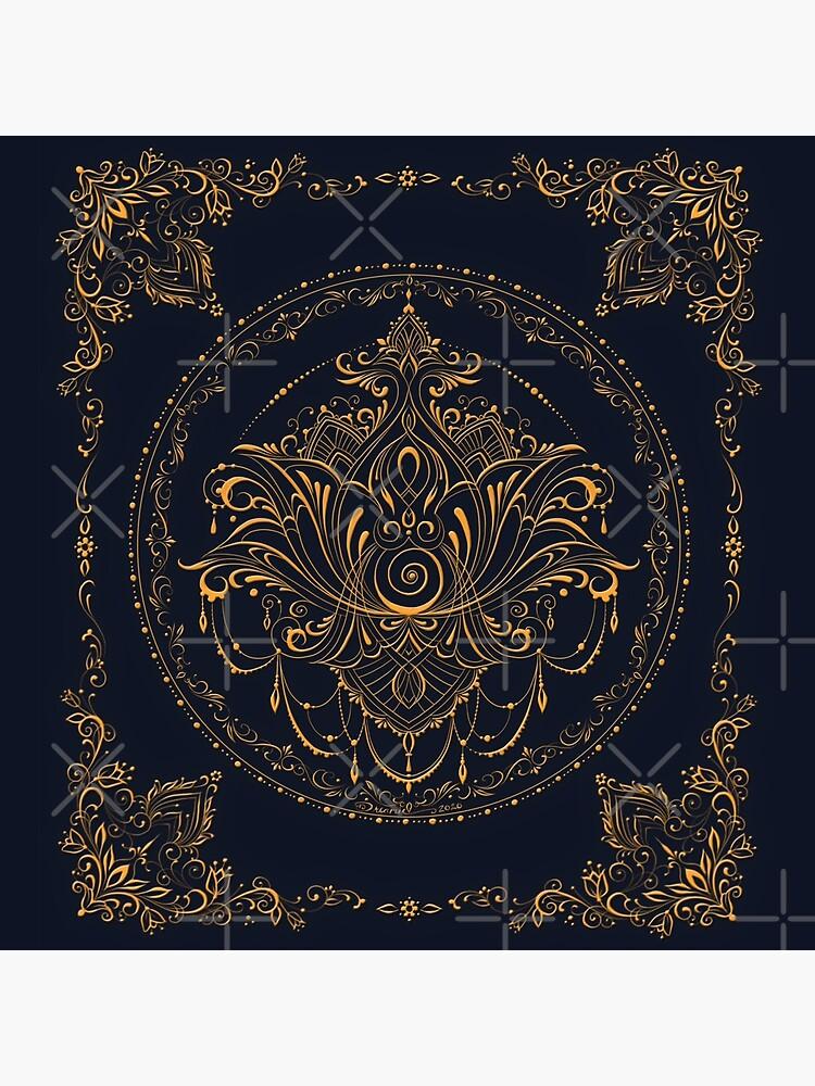 Lotus Goddess in Deep Blue by dreamie09