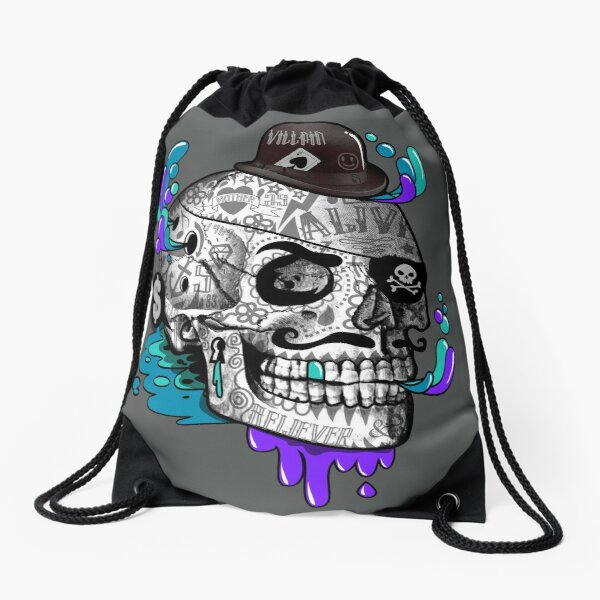 The Tattooed Gentleman Drawstring Bag