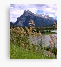 Mount Rundle and Vermillion lakes Canvas Print