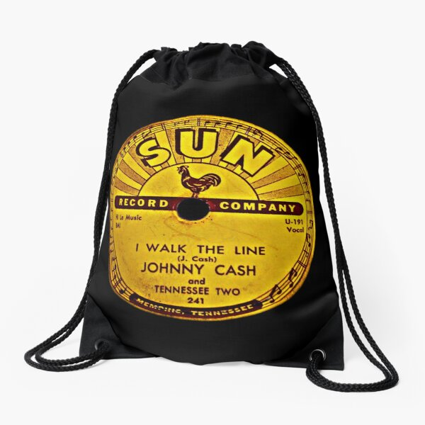 Johnny Cash Drawstring Bags Redbubble