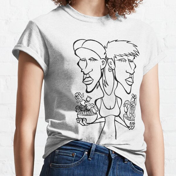 Two Headed Flower Girl Classic T-Shirt