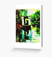 BOAT STUDIO AFTER MONET Greeting Card