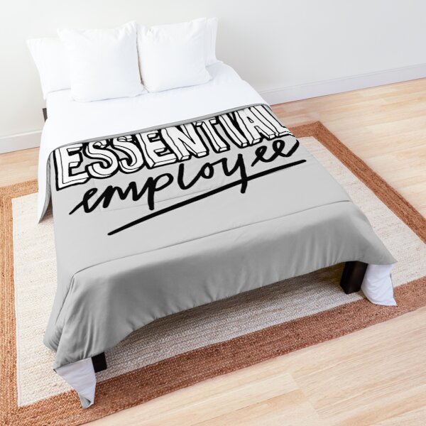 Funny Essential Employee Meme Comforter