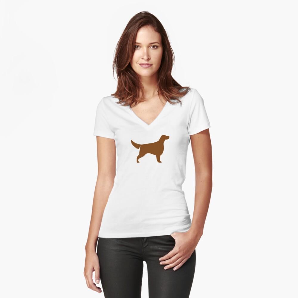 Irische Setter Silhouette (n) Tailliertes T-Shirt mit V-Ausschnitt